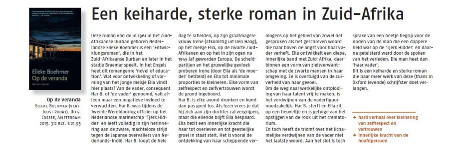 Nederlands Dagblad review of Op de veranda