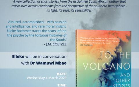 Stellenbosch Launch of <em>To the Volcano</em>