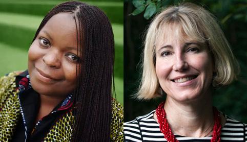 Portraits of Petina Gappah and Elleke Boehmer